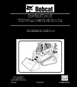 Download Bobcat T320 Compact Track Loader Service Repair Manual | eBooks | Automotive