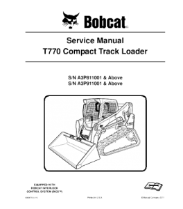 download bobcat t770 compact track loader service repair manual