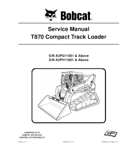 download bobcat t870 compact track loader service repair manual