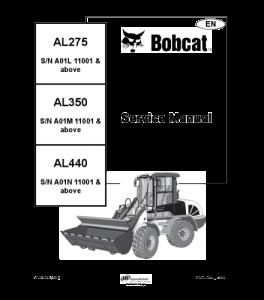 Download Bobcat Al275 Al350 Al440 Wheel Loader Service Repair Manual | eBooks | Automotive