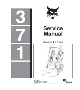 Download Bobcat 371 Skid Steer Loader Service Repair Manual | eBooks | Automotive