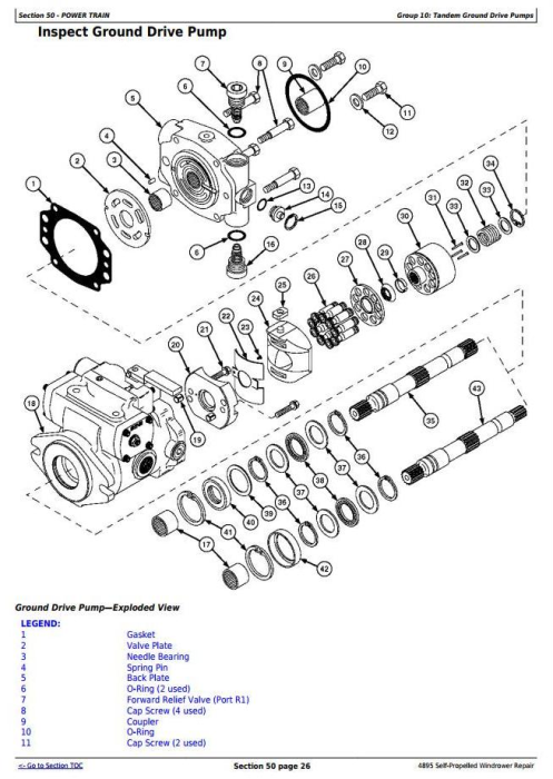 Third Additional product image for - John Deere 4895 Self-Propelled Hay and Forage Windrower (SN.-180000) Service Repair Manual (TM2033)