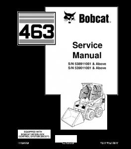 Download Bobcat 463 Skid Steer Loader Service Repair Manual | eBooks | Automotive