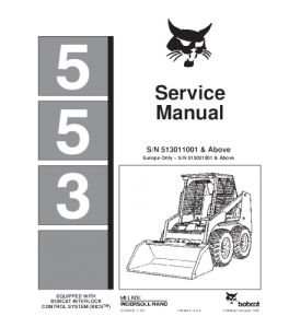 Download Bobcat 553 Skid Steer Loader Service Repair Manual | eBooks | Automotive