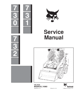 Download Bobcat 730 731 732 Skid Steer Loader Service Repair Manual | eBooks | Automotive