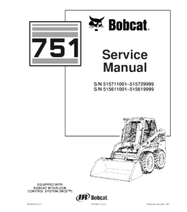 Download Bobcat 751 Skid Steer Loader Service Repair Manual | eBooks | Automotive