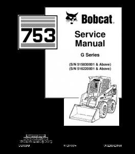 Download Bobcat 753 Skid Steer Loader Service Repair Manual   eBooks   Automotive
