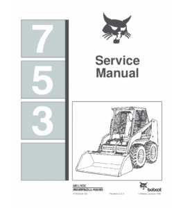 Download Bobcat 753 Skid Steer Loader Service Repair Manual | eBooks | Automotive