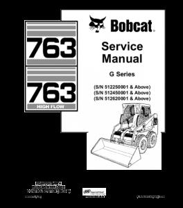 Download Bobcat 763 Skid Steer Loader Service Repair Manual   eBooks   Automotive