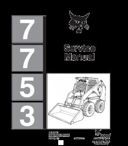 Download Bobcat 7753 Skid Steer Loader Service Repair Manual   eBooks   Automotive