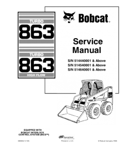 Download Bobcat 863 Skid Steer Loader Service Repair Manual | eBooks | Automotive