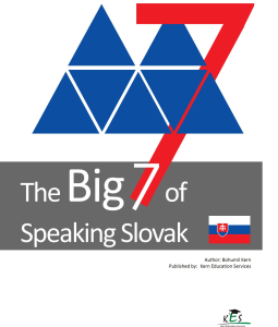 The Big 7 of Speaking Slovak | eBooks | Language