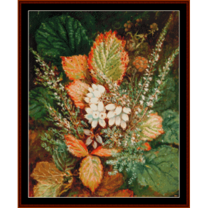 heather and gorse - durer cross stitch pattern by cross stitch collectibles