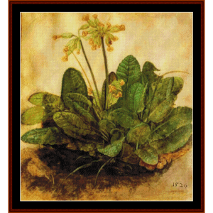 tuft of cowslips - durer cross stitch pattern by cross stitch collectibles