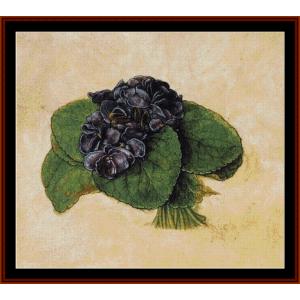 violets - durer cross stitch pattern by cross stitch collectibles