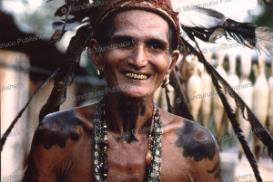 iban man, borneo, 1961
