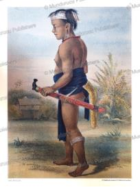 dayak youngster from longwai, borneo, carl bock, 1882