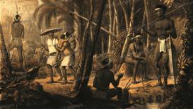 ngaju dayak warriors, borneo, c.a.l.m. schwaner, 1854
