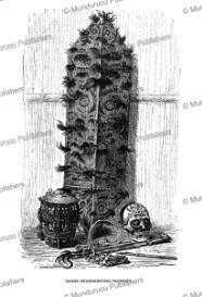 dayak headhunting trophies, borneo, friedrich ratzel, 1894