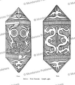 shields from sarawak, borneo, henry ling roth, 1896