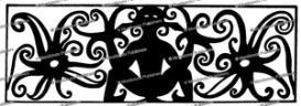 kenyah leg pattern, borneo, sharon thomas, 1968