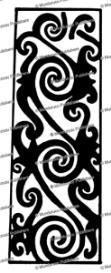 kenyah leg design, borneo, sharon thomas, 1968
