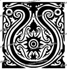 uma luhat knee pattern, hornbill, borneo, a.w. nieuwenhuis, 1904
