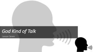 learning to talk like god: the god kind of talk pt. 7