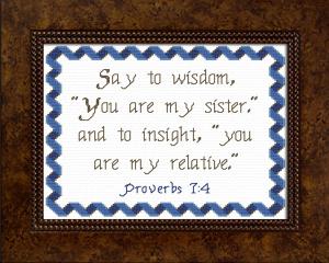 say to wisdom