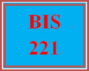bis 221 week 1 apply: week 1 exam