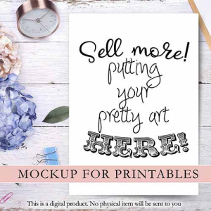 mockup for your printables: 2 images jpg &png. easy to use. flat image to put your product.