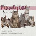 Cute CAT set, Kawaii cat clipart instant download PNG file – 300 dpi | Photos and Images | Clip Art