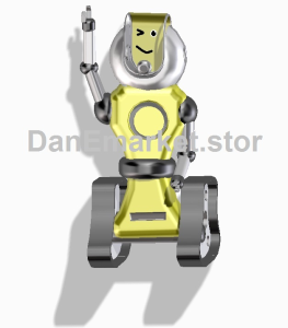 robot blinking santa