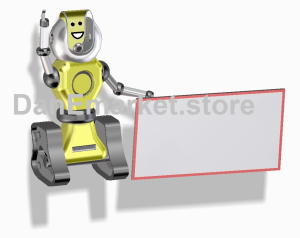 robot with blackboard