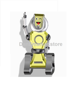 robot with a crazy face