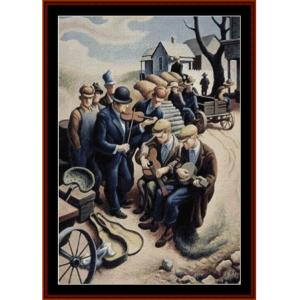art of the blues - americana cross stitch pattern by cross stitch collectibles