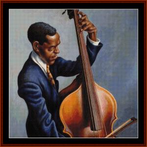 portrait of a musician, detail - americana cross stitch pattern by cross stitch collecitbles