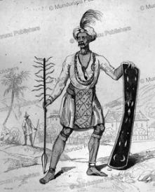 Alfur in traditional costume, Celebes, Victor Marie Felix Danvin, 1836 | Photos and Images | Travel