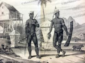 alfur warriors of celebes, 1850