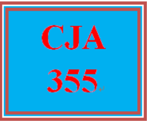 cja 355 entire course
