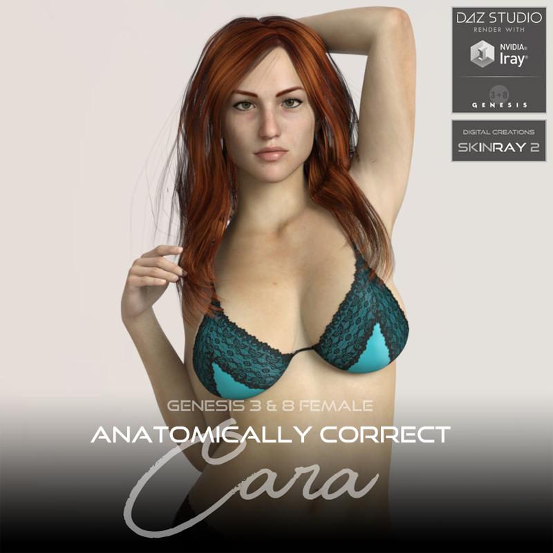 Anatomically Correct: Cara for Genesis 3 and Genesis 8 Female