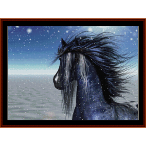 appaloosa winter pony cross stitch pattern by cross stitch collectibles