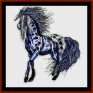 fractal horse - fantasy cross stitch pattern by cross stitch collectibles