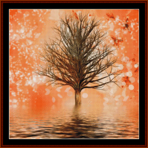 fantasy tree 1 cross stitch pattern by cross stitch collectibles