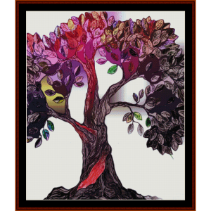 fantasy tree 2 cross stitch pattern by cross stitch collectibles