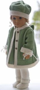 dollknittingpattern 0196d juliette - dress, pants, coat, cap and shoes-(english)