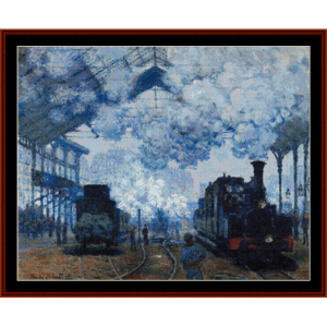arrival of a train - van gogh cross stitch pattern by cross stitch collectibles