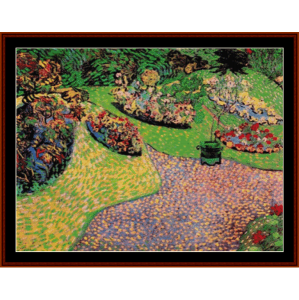 garden in auvers - van gogh cross stitch pattern by cross stitch collectibles