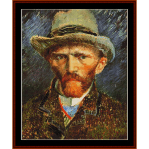 self portrait ii - van gogh cross stitch pattern by cross stitch collectibles