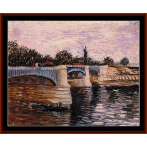 Pont de la Grand Jatte - Van Gogh cross stitch pattern by Cross Stitch Collectibles | Crafting | Cross-Stitch | Other